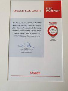 Canon Urkunde CBC